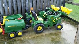 Ride on john deere tractors with trailers