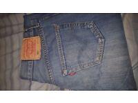 Levi's 501 Men's Blue Denim Jeans 34W 34L VGC Vintage USA