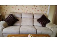 Reduced Further, 3 seater recliner sofa and chair suit £150