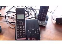 2 Cordless Phones with Answering Machine – BT Xenon, Twin Handsets