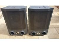 WHARFEDALE FORCE 9 PA Speakers.
