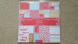 """PAPERMANIA TWELVE DAYS OF CHRISTMAS 12"""" x 12"""" PAPER PACK - BRAND NEW"""