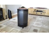 Hot Spot portable gas heater, red in colour, hardly used & excellent condition.