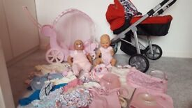 Baby Annabell and Baby Born Doll Bundle