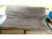 Double sofa bed chocolate colour