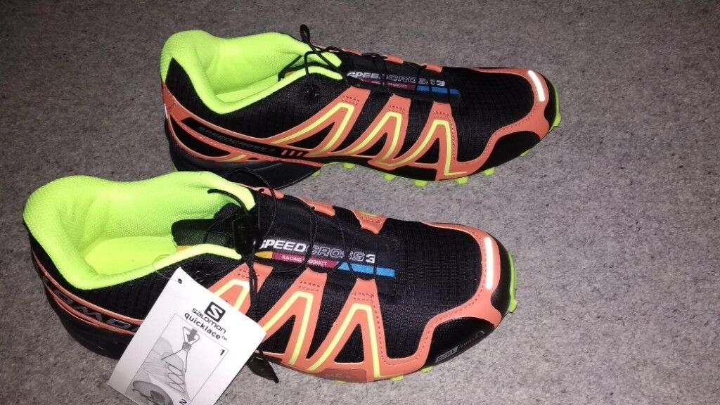e964e3a3d77f Salomon Speed Cross 3 trainers - Size UK 10.5 Brand New never ...