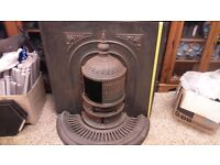 Antique Vintage log coal fireplace