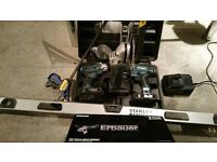 ERBAUER 18V 2.0AH LI-ION GRINDER COMBI DRILL & IMPACT DRIVER -3 Batteies and tools