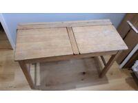 Vintage Retro Old Wooden School Desk