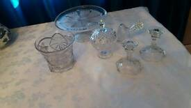 Assortment of crystal glassware