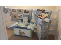 Toy box, light shade and blanket bundle