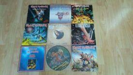 "9 x 7"" iron maiden nicko mcbrain bruce dickinson vinyl singles"
