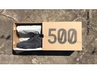 Yeezy 500 Utility Black Size 9 Brand New Boxed with Receipt