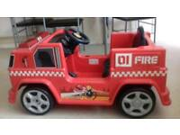 Kids electric fire engine