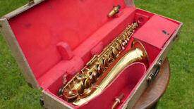 'KARL MEYER' SELMER STENCIL TENOR SAXOPHONE, circa 1940s/50s vintage sax in Selmer snakeskin case