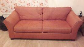1 x Sofa for sale - burnt orange colour