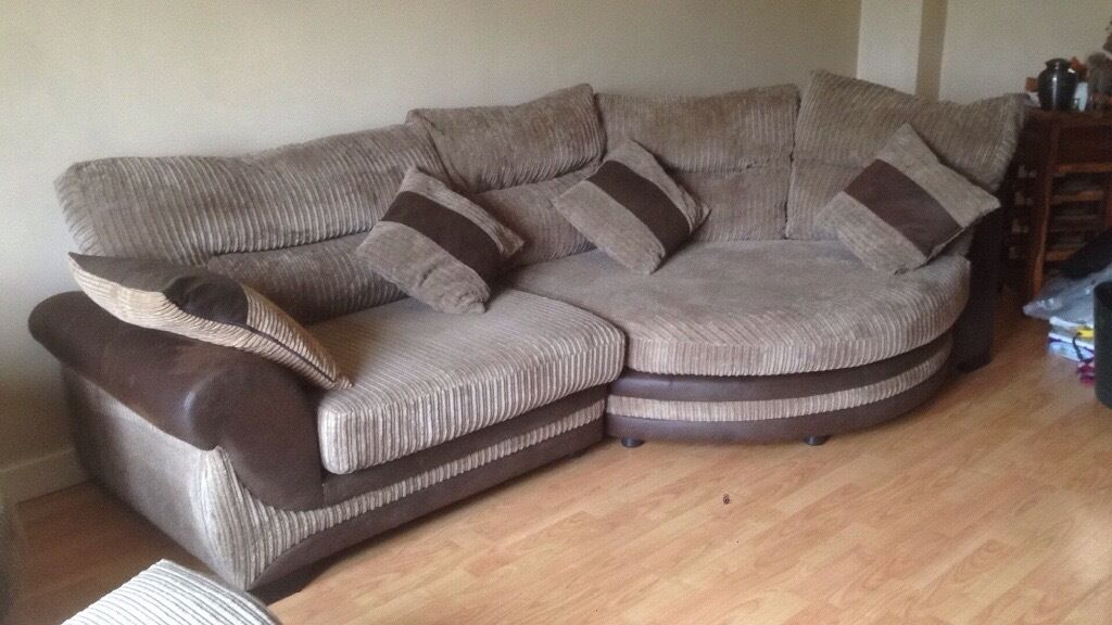 open to offers corner cuddle sofa large swivel chair footstool