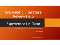 Systematic review tutor, Systematic Literature review help, Dissertation tutor online UK