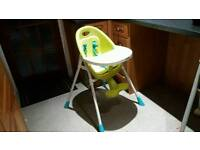 mamas and papas high chair feeding green