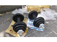 YORK 20KG DUMBBELL WEIGHTS SET - BRAND NEW