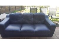 Black leather sofa and office chair FREE.