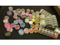 Nail art glitters and crystals