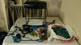 Small Fishtank With All Accessories