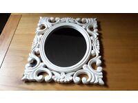 Shabby chic scroll cream mirror