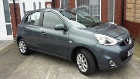 Nissan Micra Acenta 1.2 Tungstan Grey, less than 4,000 miles.