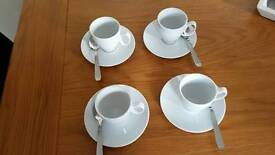 Guy degrenne small cup & saucer set