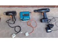 Black& decker heat gun, jigsaw & wickes hammer drill