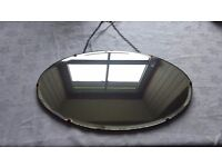 Vintage Art Deco Bwvel edge Oval wall Mirror
