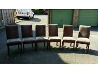 6 Chairs very comfortable and good quality