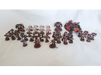 Warhammer 40k Space Marine Army - painted, poor condition