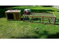 Rabbit guinea pig hutch and run. Complete kit