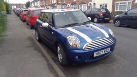 Mini Cooper. Long MOT. AUX. Alloys. Contrasting coloured roof.