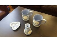 Wedgewood 4 pieces of Jasper ware