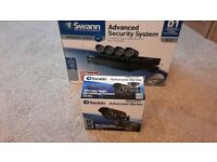 SWANN ADVANCED SECURITY SYSTEM D1 9 CHANNEL VIDEO RECORDER 4 CAMS +MINI DAY/NIGHT CAM