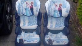 2X Girls Frozen Car Seats
