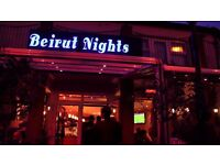 Waiter and Waitress needed at Beirut nights - Shisha Lounge & Restaurant NW10 7RB