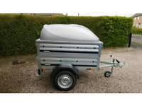 Brenderup 1150s New Car trailer +extension sides +lockable Abs lid.