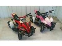 Two 50cc 2 stroke quads