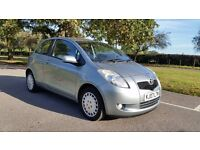 TOYOTA YARIS T3 1296cc 07 PLATE 2007 2 F/KEEPER 83000 MILES SERVICE HISTORY AIRCON 3DOOR MANUAL