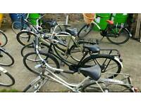 Variety of men's and Ladies Town Bikes.