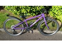 Frog Bike 62 - 24 inch, 8 speed, lightweight, purple, hybrid bike (similar to Isla Bike Islabike)