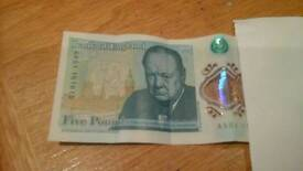 LOOK !!!!!.. new five pound note