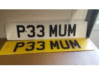 P33MUM OFFERS Number plate on retention