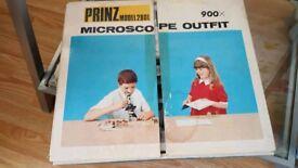 Vintage Microscope Set