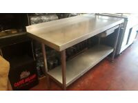 1.5m stainless Steel table with drawer