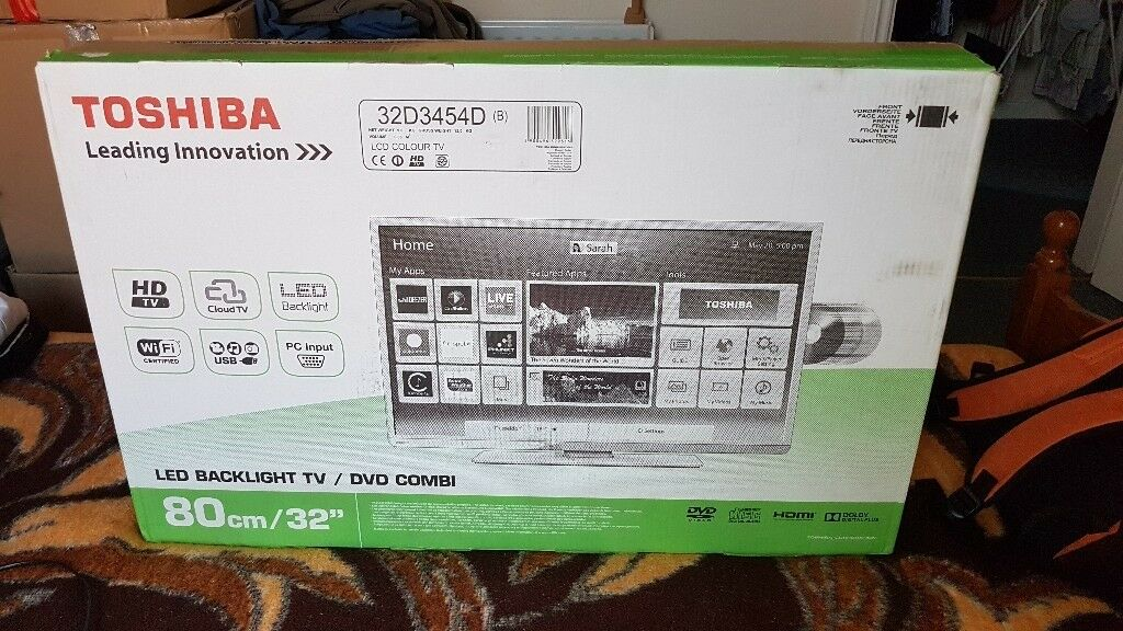 Toshiba 32 inch smart TV with built in